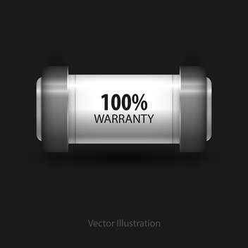 Vector guarantee button on black background - Kostenloses vector #128285