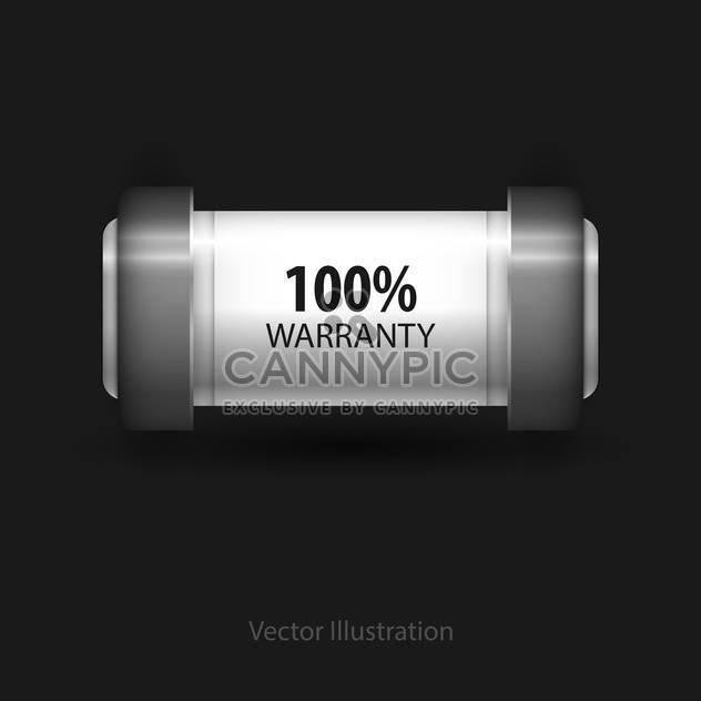 Vector guarantee button on black background - Free vector #128285