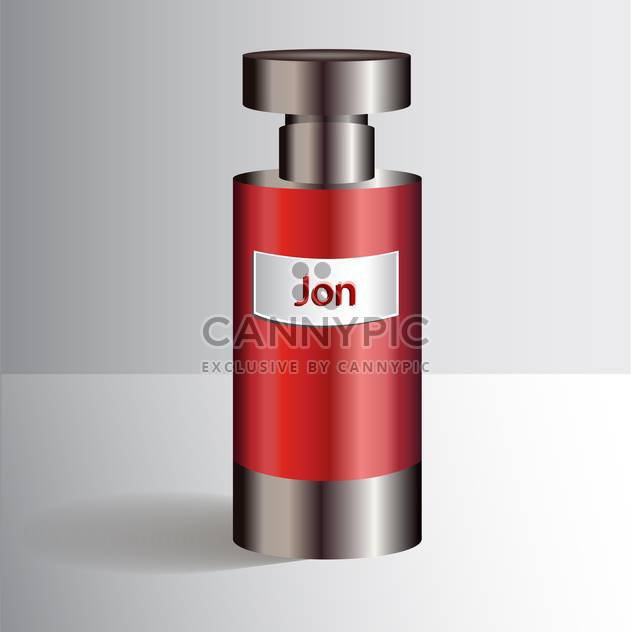 Red bottle with liquid perfumes - Free vector #128395