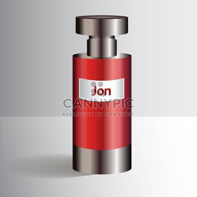 Rote Flasche mit flüssige Parfümerie - Kostenloses vector #128395