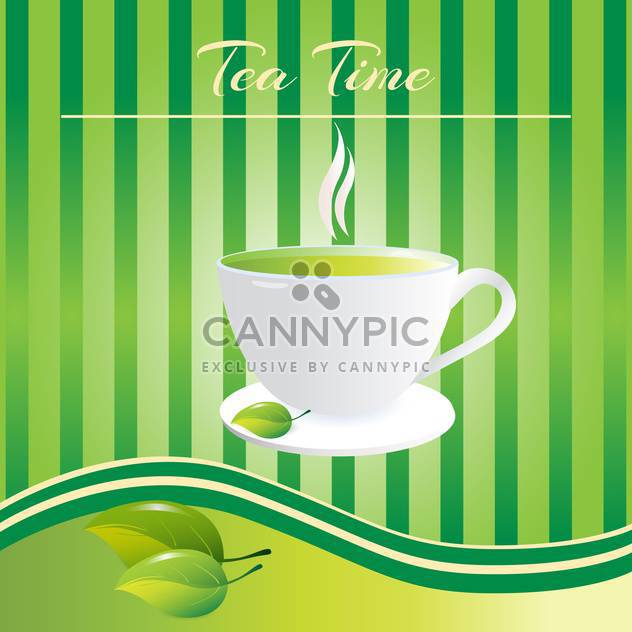 Tea-Time - Tasse Tee background - Free vector #128415