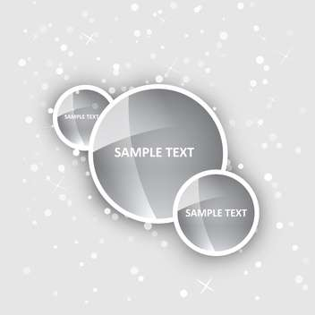 Vector background with shiny circles. - Free vector #128425