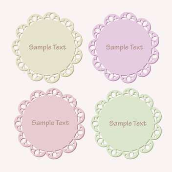 Vector set of lace frames with sample text - vector gratuit #128455