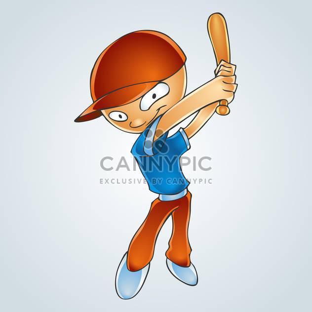Vektor-Illustration Karikatur jungen spielen baseball - Free vector #128465
