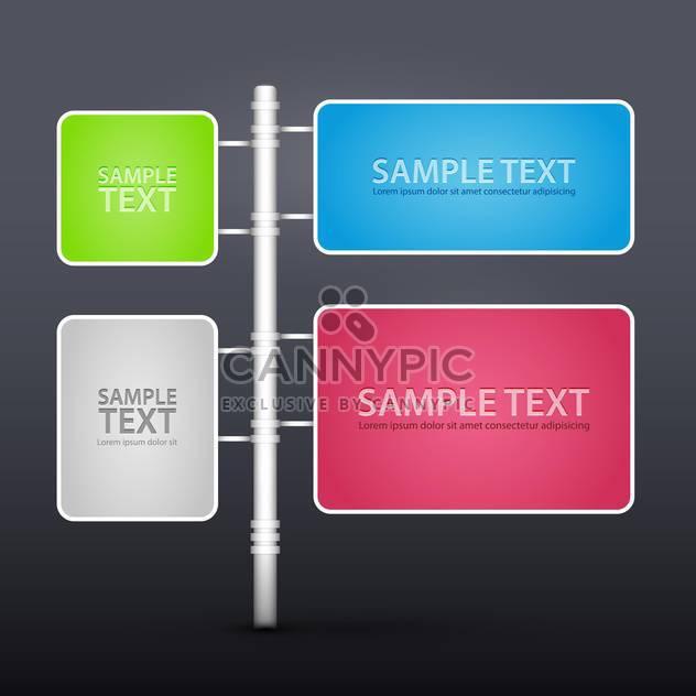 Vektor-set Design-Elemente mit textfreiraum - Free vector #128475