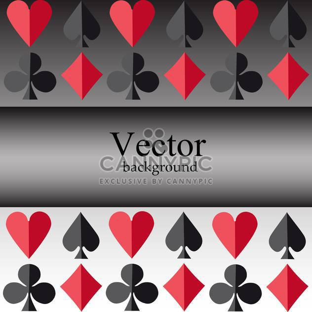 Vector background with card suits - Free vector #128495