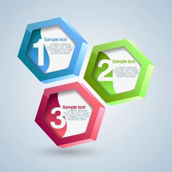 Vector illustration of hexagon numbered banners - vector #128525 gratis