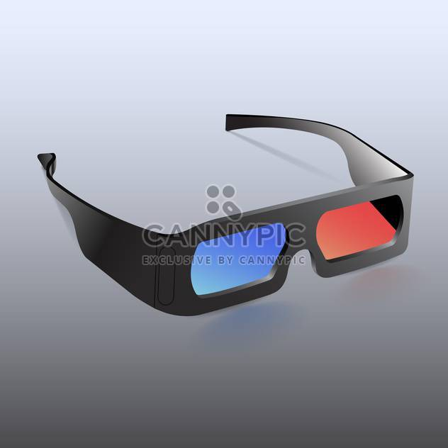 Vektor-Illustration, 3d brille, isoliert - Free vector #128545