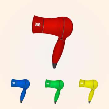 Vector illustration of hair dryer collection - бесплатный vector #128585