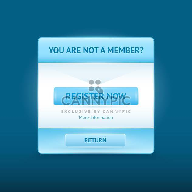 Vector registration invitation glossy web form - Free vector #128605