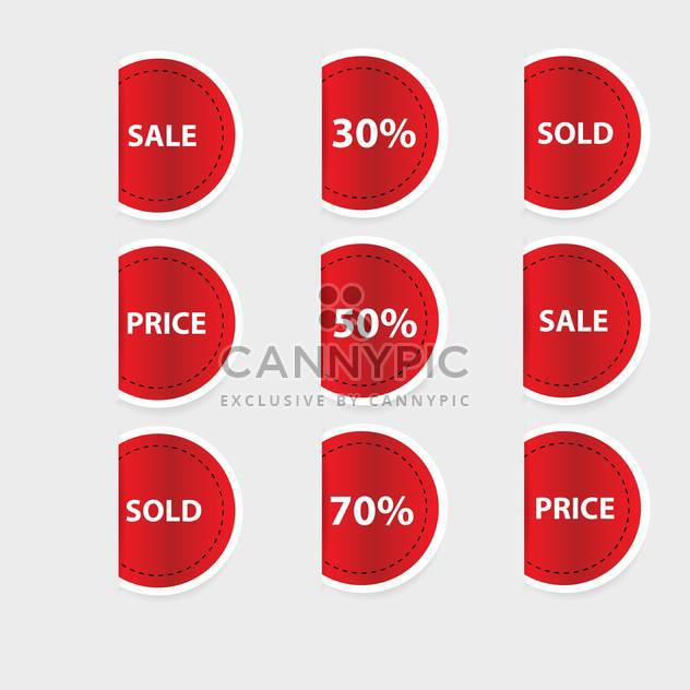 Vector set of red discount labels - Free vector #128625