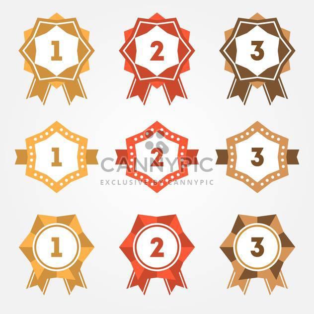 Set of vector retro ranking badges - Free vector #128645