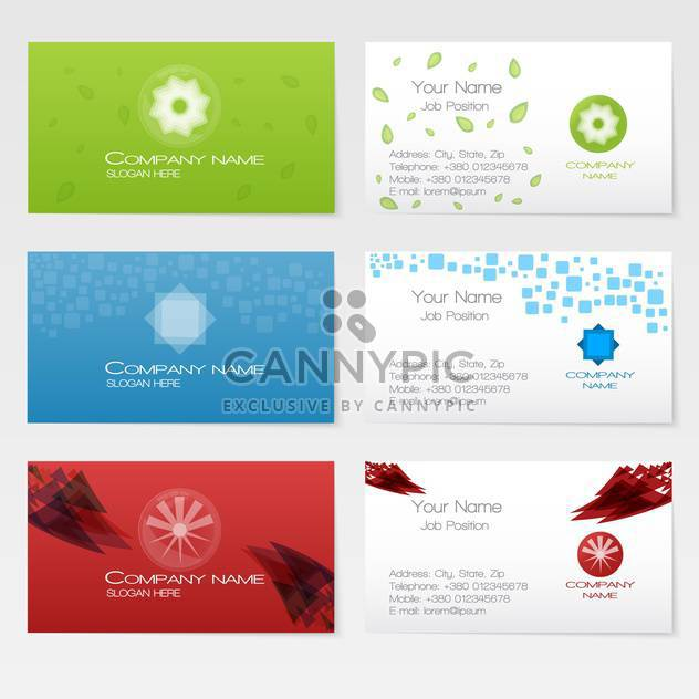Vektor-drei Business-Karten-set - Free vector #128665