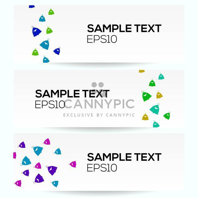 Vector set of Banner Vector Design with sample text - Free vector #128685