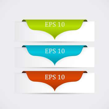 Vector set of colorful banners with copy space - Free vector #128795