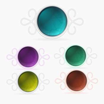 Vector set of colored buttons - Free vector #128815