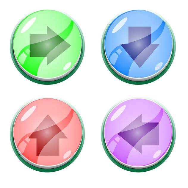 Vector set of colorful arrow buttons - vector #128825 gratis