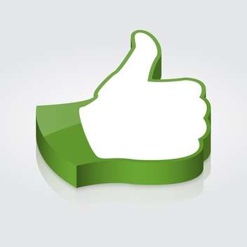 vector thumb up icon - Free vector #128975