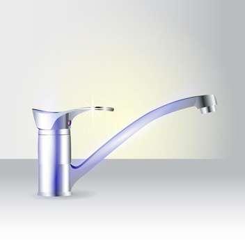 modern vector faucet illustration - Free vector #129095