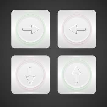 vector web arrows buttons set - vector gratuit #129105