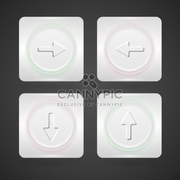 vector web arrows buttons set - Free vector #129105