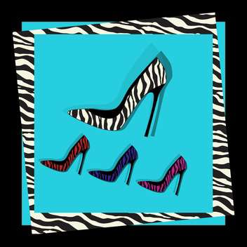 fashion female shoes set - vector gratuit #129145
