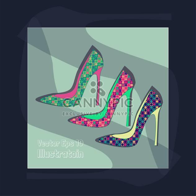 fashion female shoes set - Free vector #129155