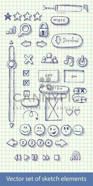 Hand-gezogene Web-icons - Free vector #129165