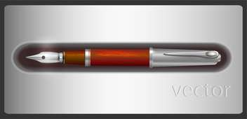 vector fountain pen illustration - vector #129215 gratis