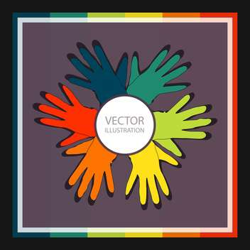 vector background with colorful gloves set - vector gratuit(e) #129225