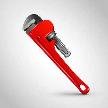 vector red pipe wrench - Free vector #129255