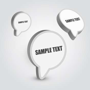speech bubbles vector set - vector #129265 gratis