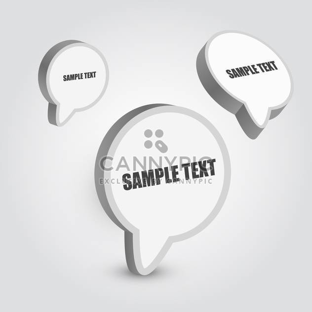 speech bubbles vector set - Free vector #129265