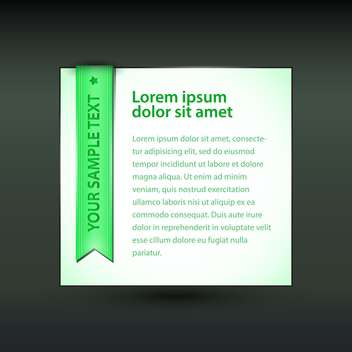 Vector banner with green ribbon on black background - vector gratuit #129315