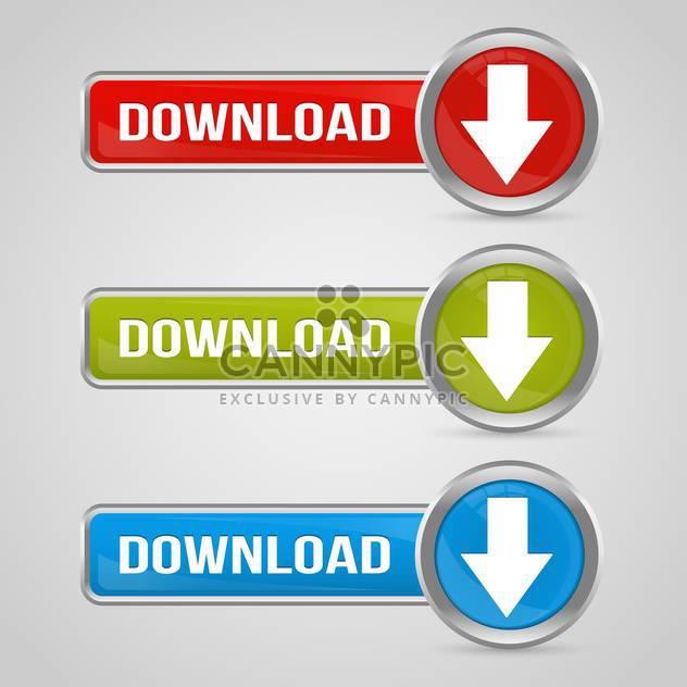 Vektor setzen bunte Download-Button mit Pfeilen - Free vector #129355