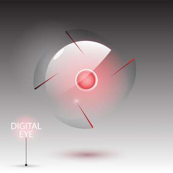 Vector illustration of digital eye camera on gray background - Free vector #129395