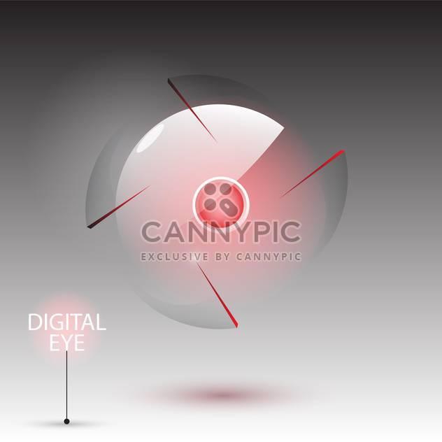 Vektor-Illustration von digital Eye-Kamera auf grauem Hintergrund - Free vector #129395
