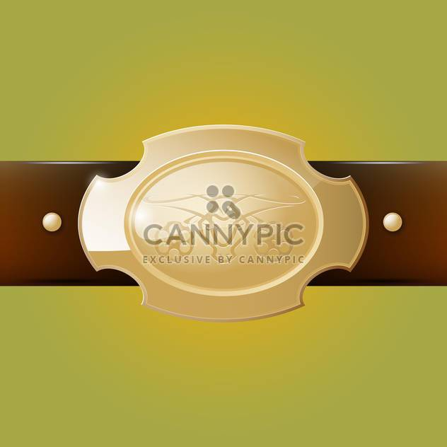 Vector cowboy belt buckle on green background - Free vector #129405