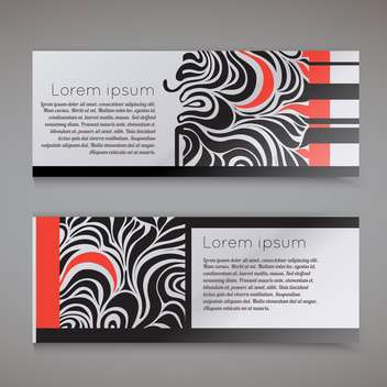Vector templates of business cards with swirls - Free vector #129495