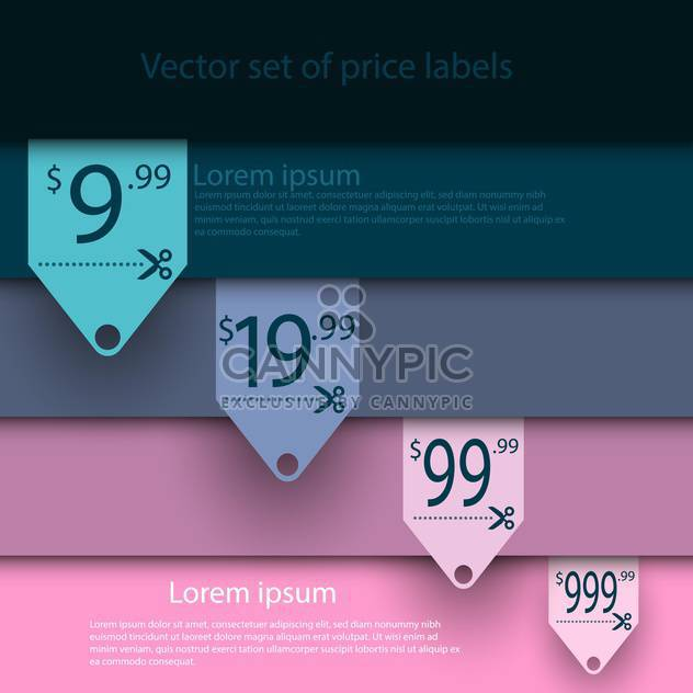 Vector set of sale labels on background with stripes - Free vector #129735