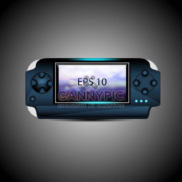 vector illustration of portable game pad on gray background - Free vector #129755
