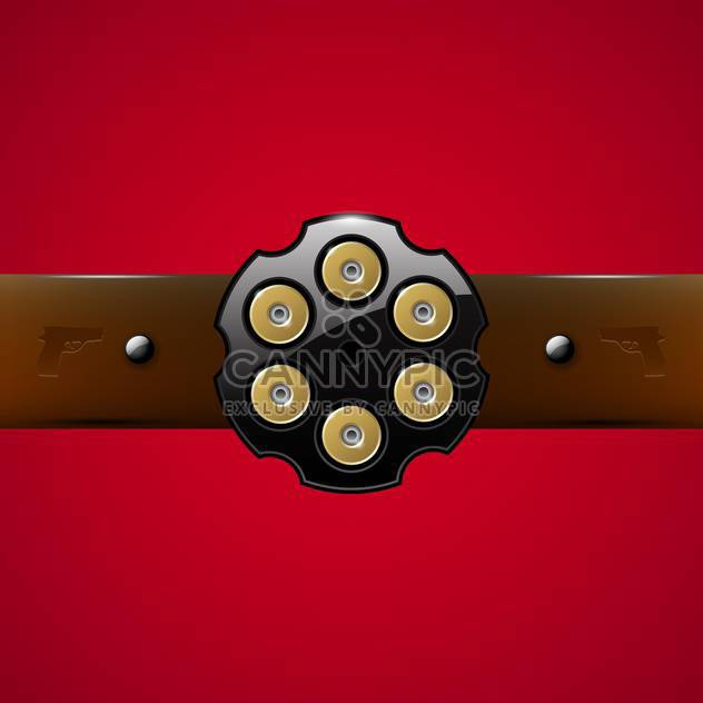 Vector gangster belt buckle on red background - Free vector #129785