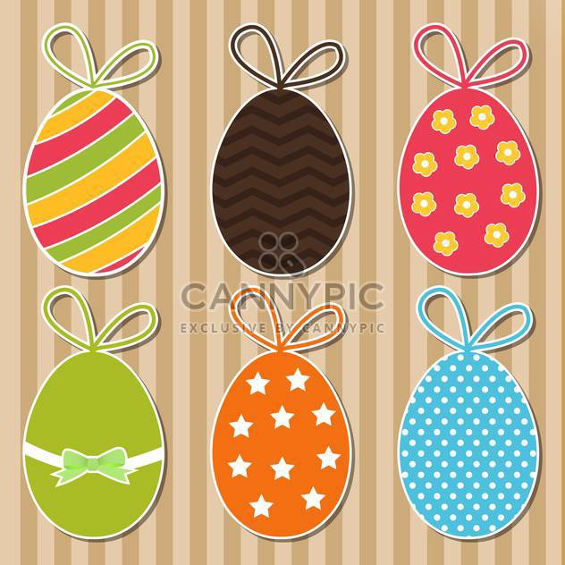 Vector set of bright colorful Easter eggs - Free vector #129885