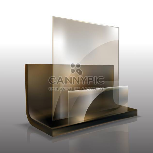 Vector illustration of glass element on grey background - Free vector #129985
