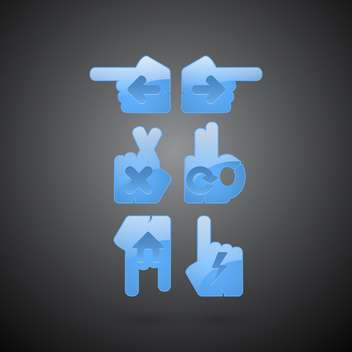 Vector glossy hands browser buttons - Free vector #130025