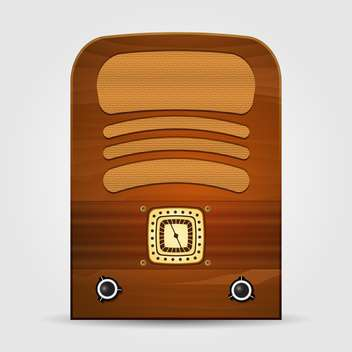 Vector illustration of retro radio isolated - Free vector #130035