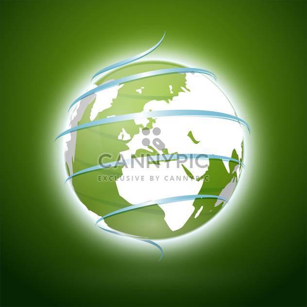 Vektor-Illustration von Grüne Erde mit blauen Band - Kostenloses vector #130075