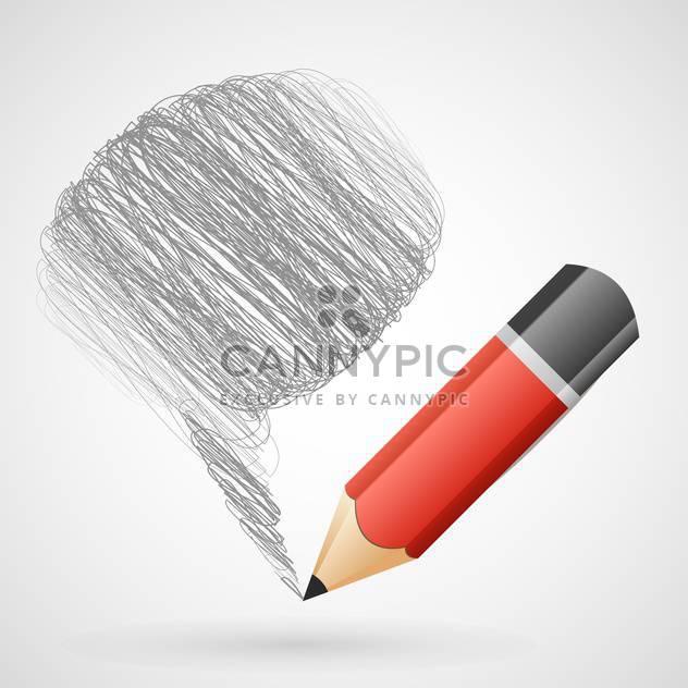 Vektor-Illustration der Sprechblase mit Bleistift - Free vector #130085