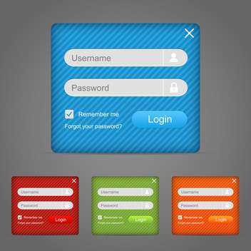 web login form vector element - vector gratuit #130285