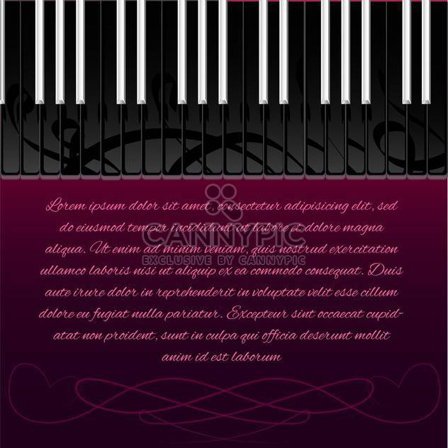 piano keyboard with space for text - Free vector #130335